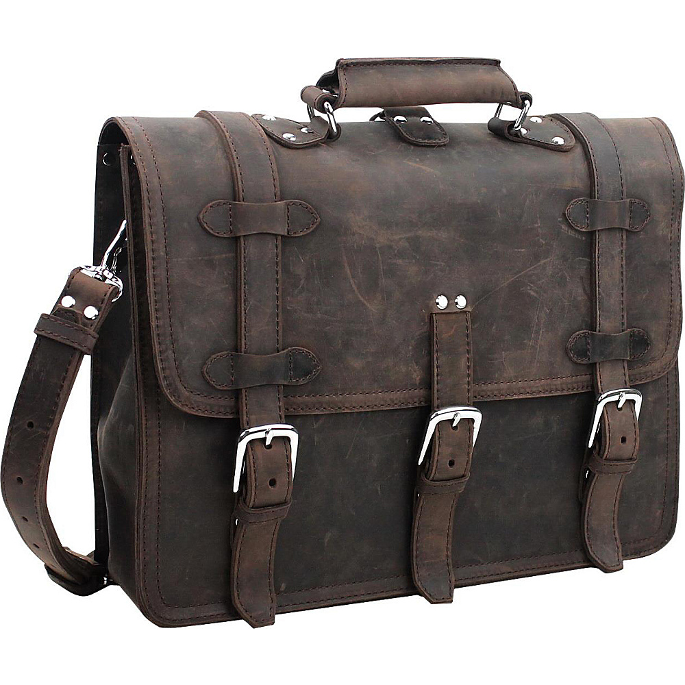 "Vagabond Traveler 13"" Leather MacBook Pro Briefcase Backpack Dark Brown - Vagabond Traveler Non-Wheeled Business Cases"