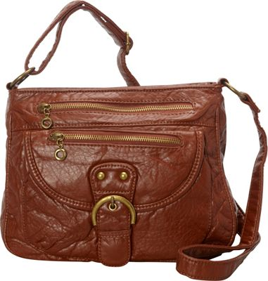 Ampere Creations The Lorie Crossbody Brown - Ampere Creations Manmade Handbags
