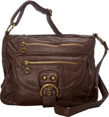 Ampere Creations The Lorie Crossbody Chocolate Brown - Ampere Creations Manmade Handbags