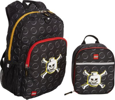 LEGO Skeleton Backpack & Skeleton Lunch Bag Black - LEGO Everyday Backpacks