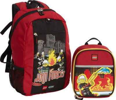 LEGO LEGO City Fire Join Forces Basic Backpack & Fire Nights Lunch RED - LEGO Everyday Backpacks
