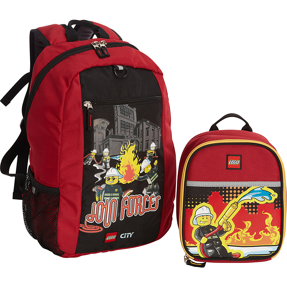 LEGO City Fire Join Forces Basic Backpack Fire Nights Lunch RED LEGO Everyday Backpacks