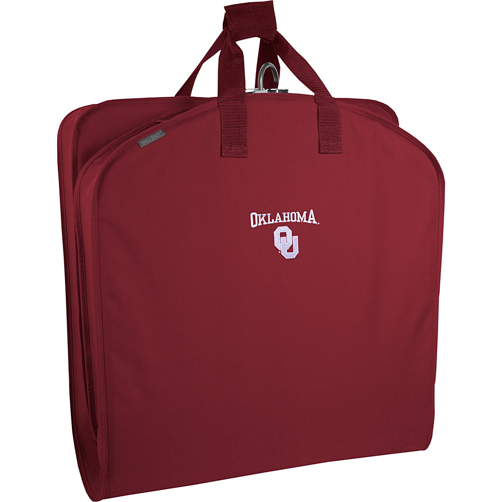 Wally Bags Oklahoma Sooners 40 Suit Length Garment Bag with Handles Red Wally Bags Garment Bags