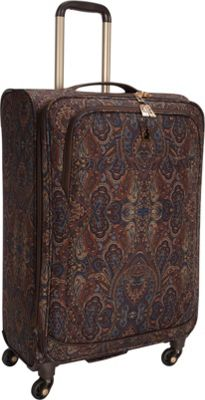 London Fog Soho 25 inch Expandable Spinner Brown Paisley - London Fog Softside Checked
