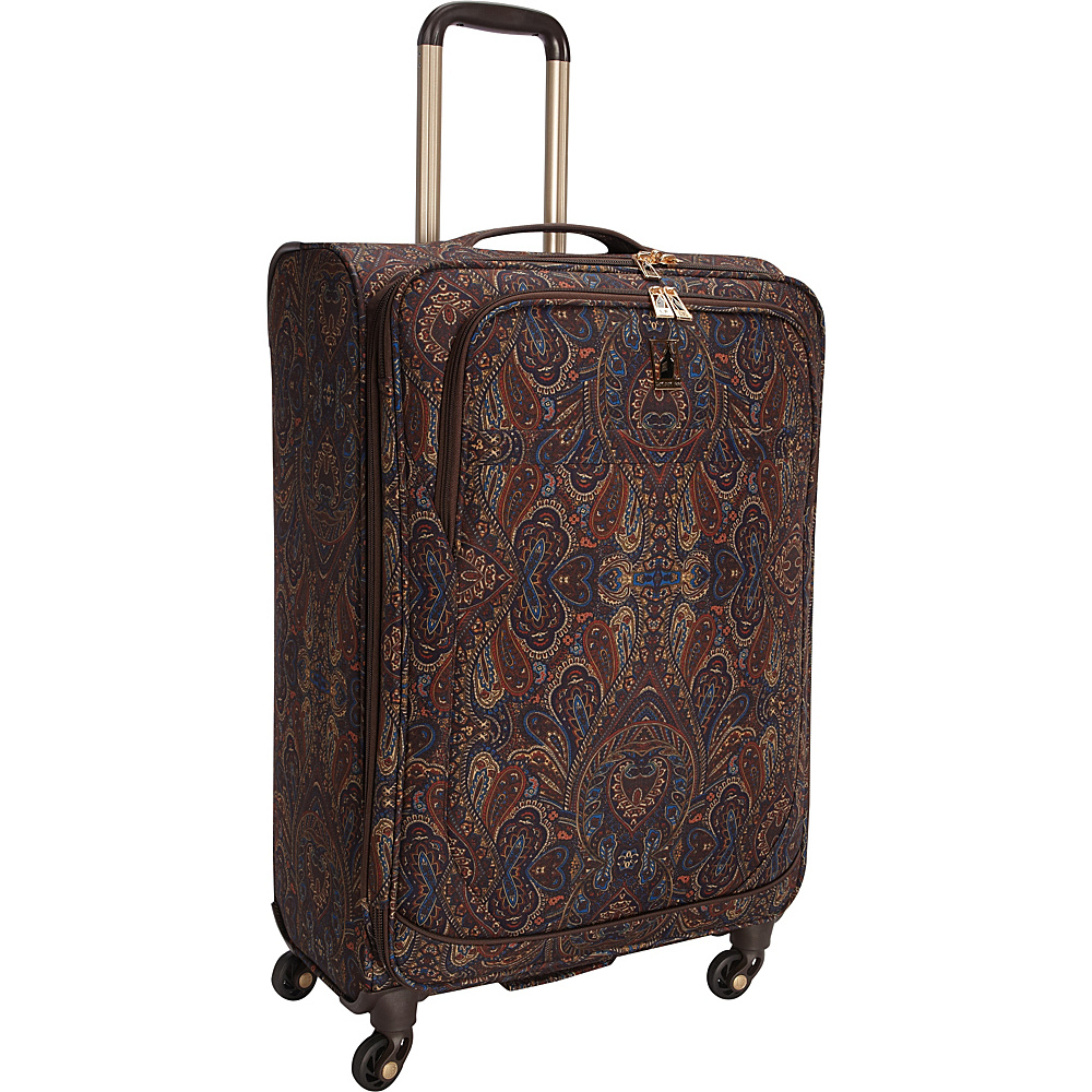 "London Fog Soho 25"" Expandable Spinner Brown Paisley - London Fog Softside Checked"
