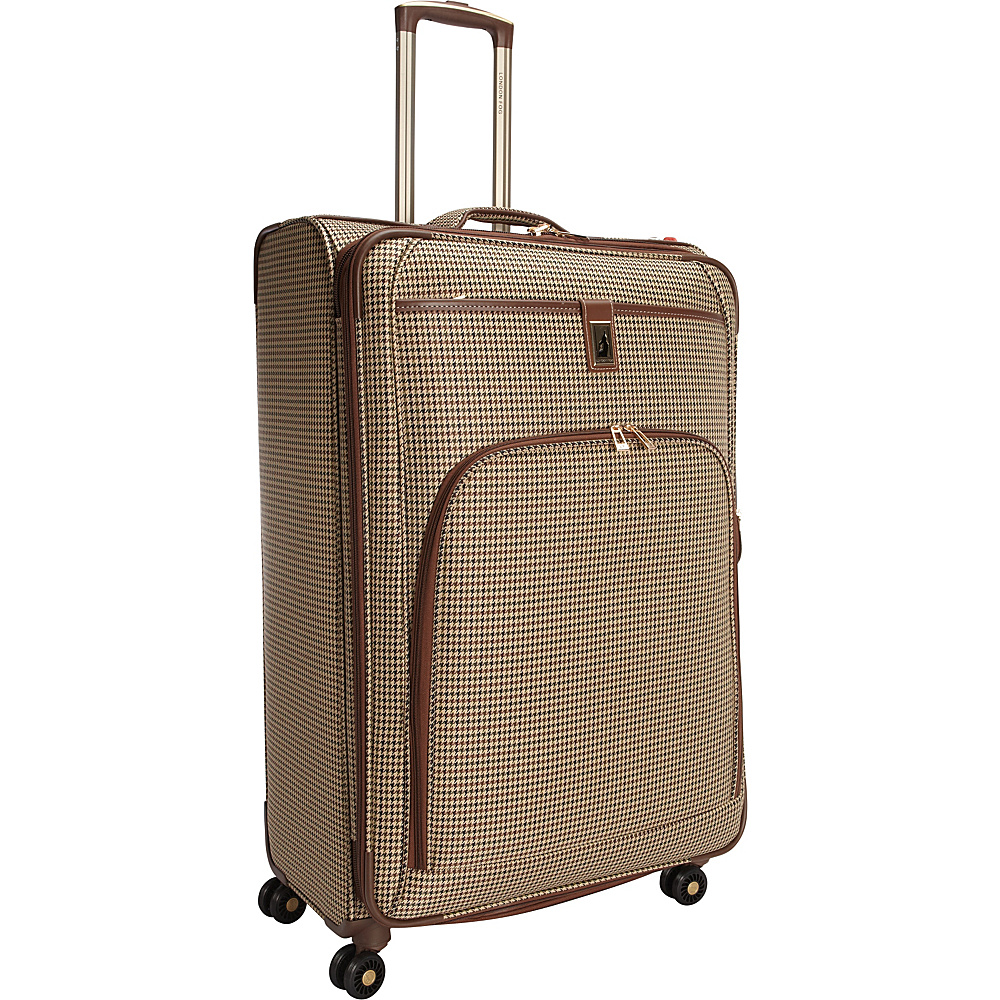 "London Fog Cambridge 29"" Expandable Spinner Olive Plaid Houndstooth - London Fog Softside Checked"