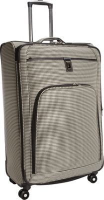 London Fog Cambridge 29 inch Expandable Spinner Black White Houndstooth - London Fog Softside Checked