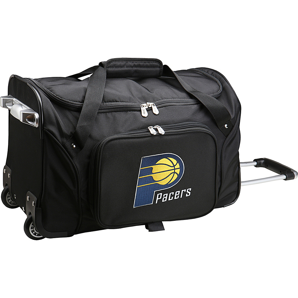 Denco Sports Luggage NBA 22 Rolling Duffel Indiana Pacers - Denco Sports Luggage Rolling Duffels - Luggage, Rolling Duffels