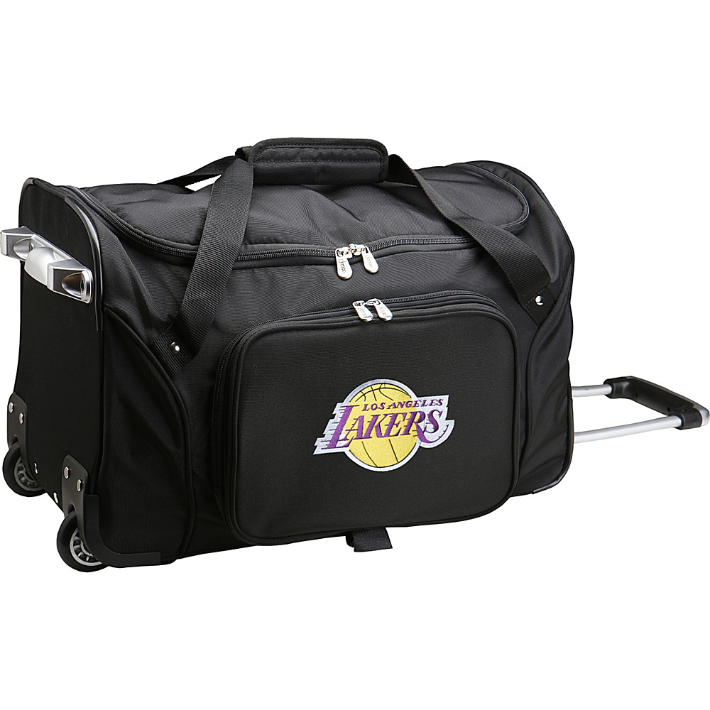 Denco Sports Luggage NBA 22 Rolling Duffel Los Angeles Lakers - Denco Sports Luggage Rolling Duffels - Luggage, Rolling Duffels