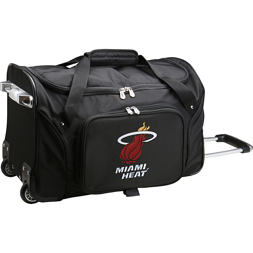 Denco Sports Luggage NBA 22 Rolling Duffel Miami Heat - Denco Sports Luggage Rolling Duffels - Luggage, Rolling Duffels