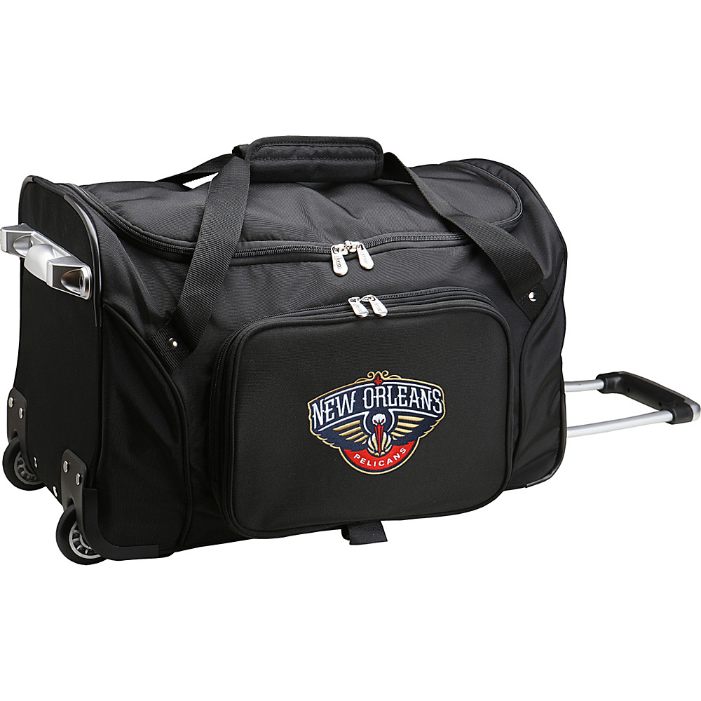 Denco Sports Luggage NBA 22 Rolling Duffel New Orleans Pelicans - Denco Sports Luggage Rolling Duffels - Luggage, Rolling Duffels