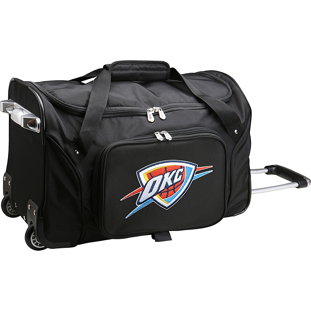 Denco Sports Luggage NBA 22 Rolling Duffel Oklahoma City Thunder - Denco Sports Luggage Rolling Duffels - Luggage, Rolling Duffels