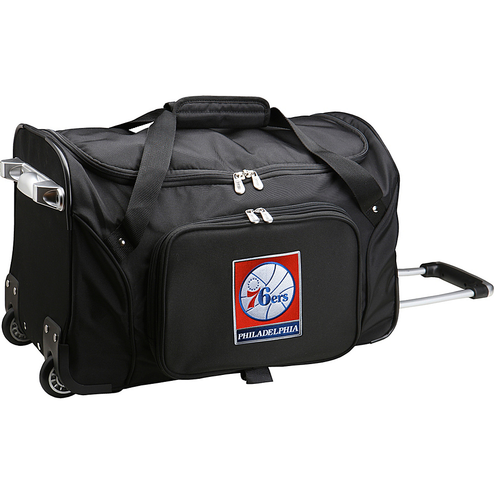 Denco Sports Luggage NBA 22 Rolling Duffel Philadelphia 76ers - Denco Sports Luggage Rolling Duffels - Luggage, Rolling Duffels