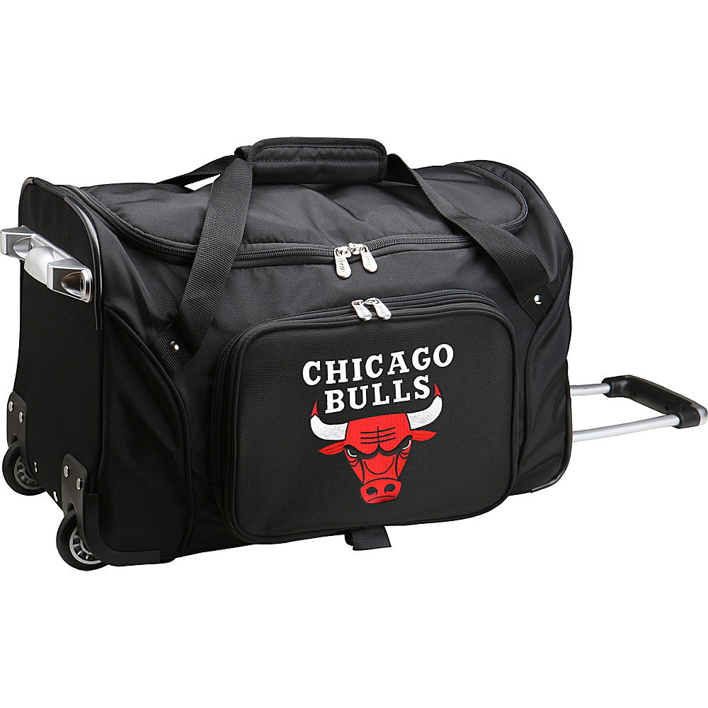 Denco Sports Luggage NBA 22 Rolling Duffel Chicago Bulls - Denco Sports Luggage Rolling Duffels - Luggage, Rolling Duffels