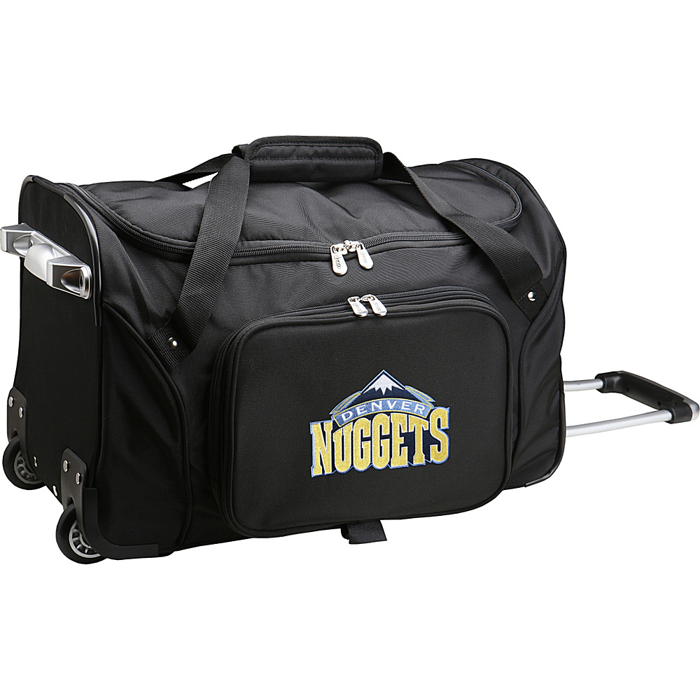 Denco Sports Luggage NBA 22 Rolling Duffel Denver Nuggets - Denco Sports Luggage Rolling Duffels - Luggage, Rolling Duffels