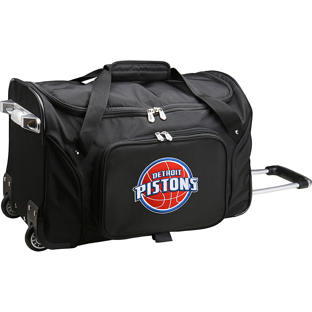 Denco Sports Luggage NBA 22 Rolling Duffel Detroit Pistons - Denco Sports Luggage Rolling Duffels - Luggage, Rolling Duffels