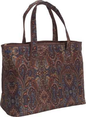 London Fog Soho 20 inch City Shopper Brown Paisley - London Fog Luggage Totes and Satchels