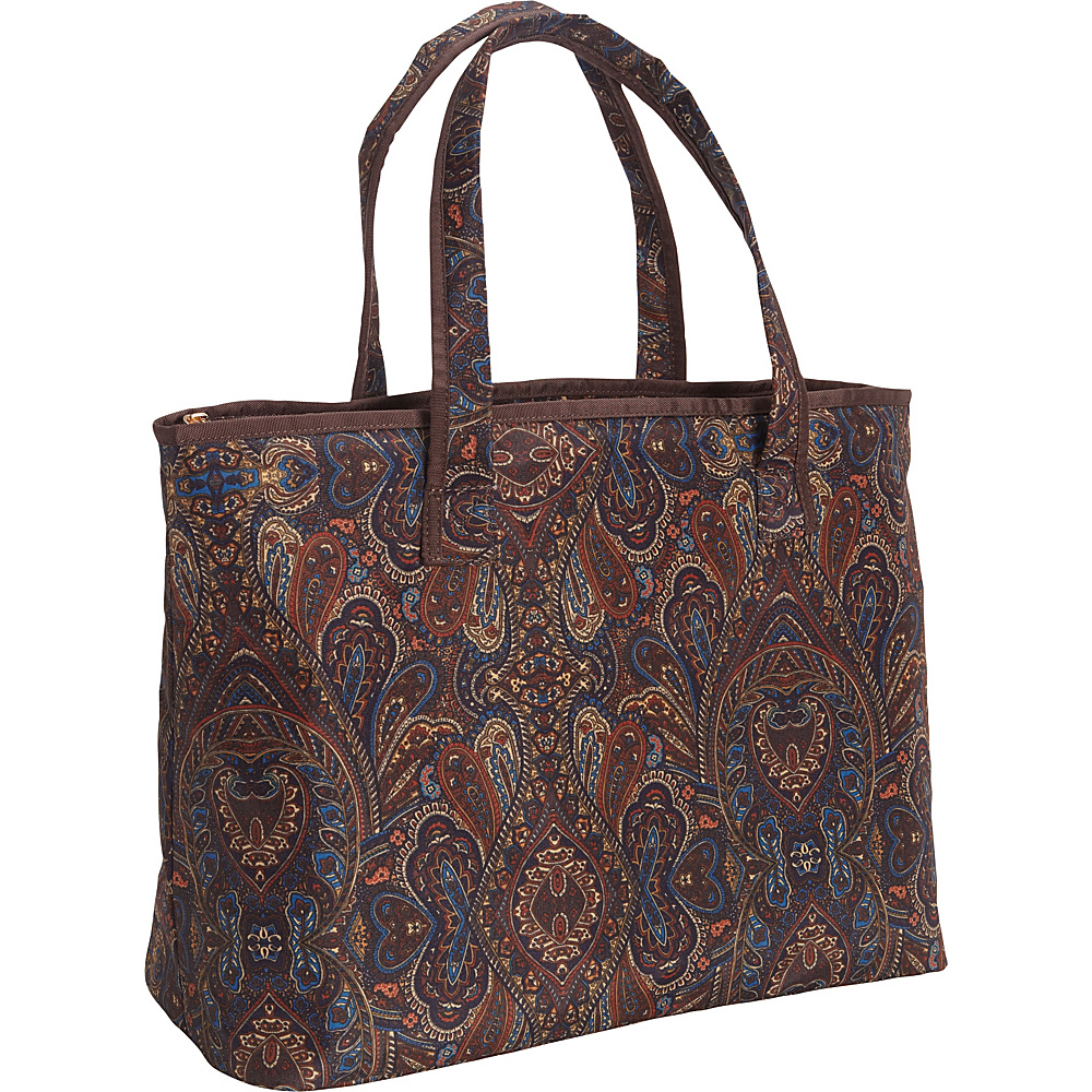 "London Fog Soho 20"" City Shopper Brown Paisley - London Fog Luggage Totes and Satchels"