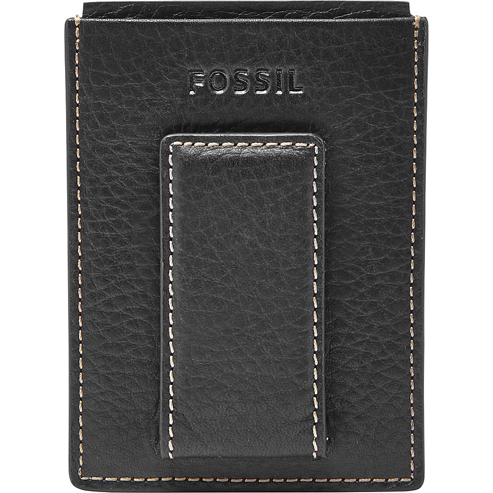 Fossil Lincoln Magnetic Card Case Black - Fossil Mens Wallets - Work Bags & Briefcases, Men's Wallets