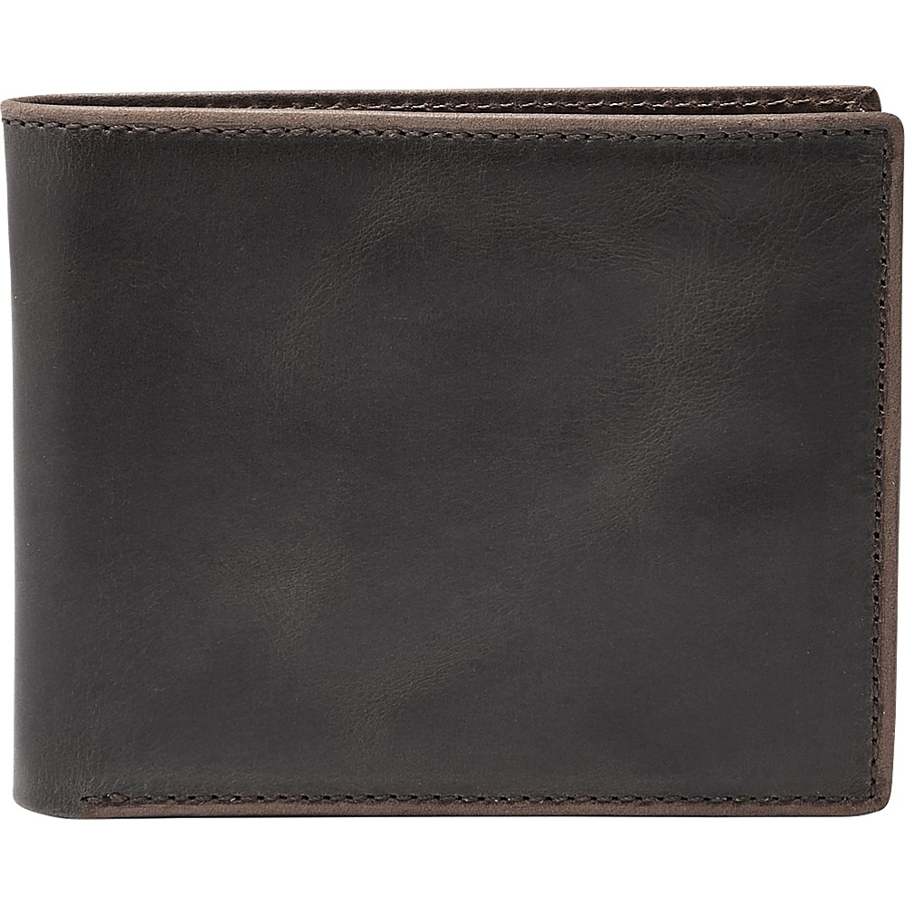 Fossil Anderson Flip ID Bifold Black - Fossil Mens Wallets - Work Bags & Briefcases, Men's Wallets