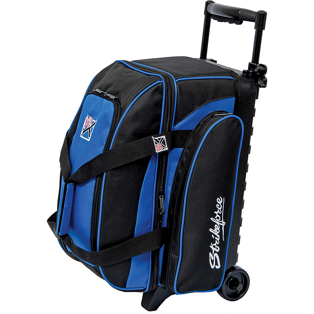 KR Strikeforce Bowling Eliminator Double Roller Bag Black Royal KR Strikeforce Bowling Bowling Bags