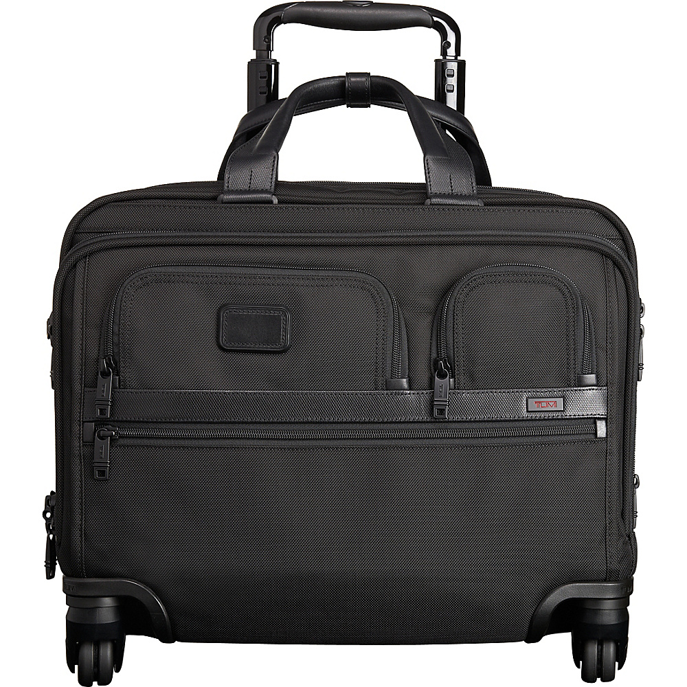 Tumi Alpha 2 4 Wheeled Deluxe Brief with Laptop Case Black D 2 Tumi Wheeled Business Cases