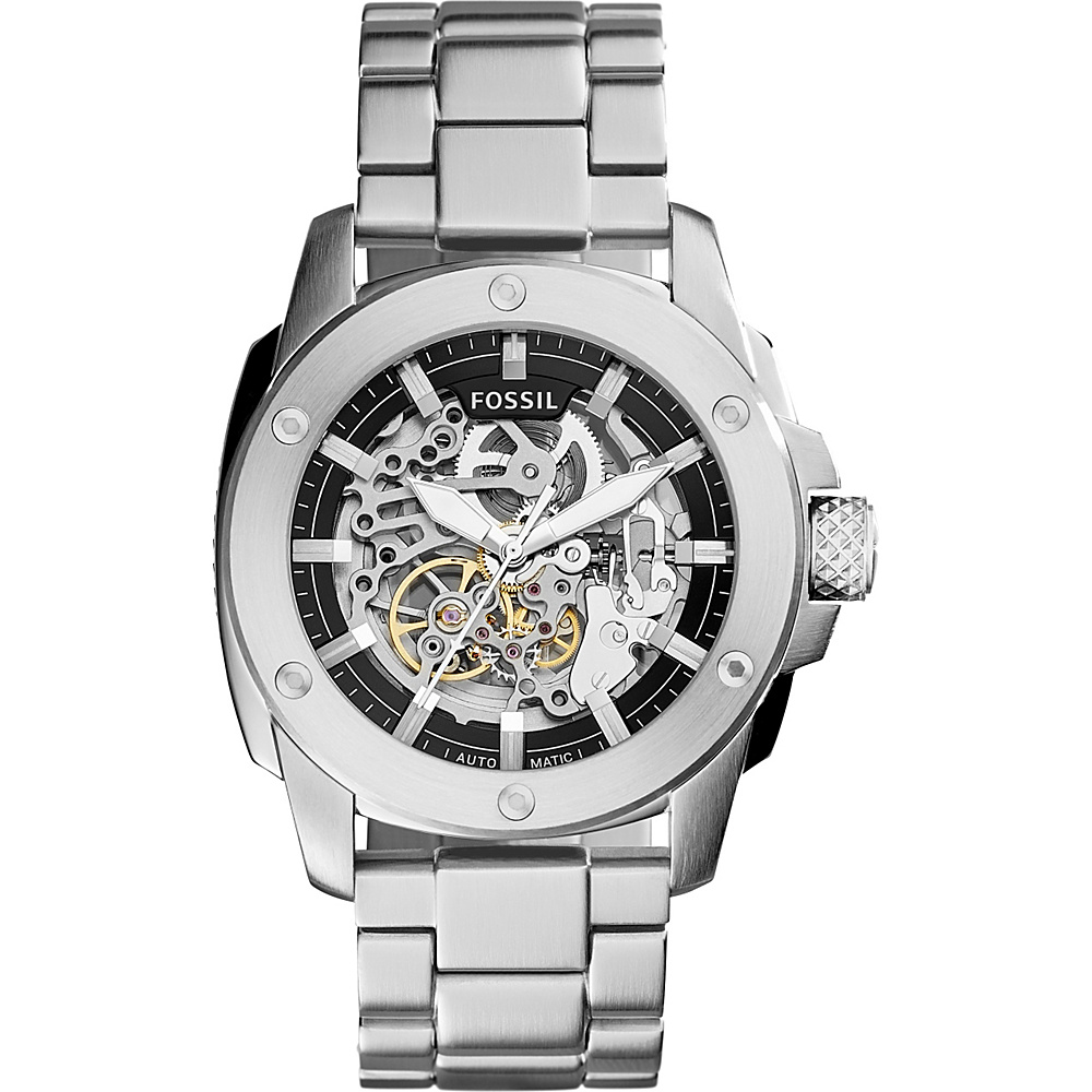 Fossil Modern Machine Automatic Stainless Steel Watch Silver - Fossil Watches - Fashion Accessories, Watches