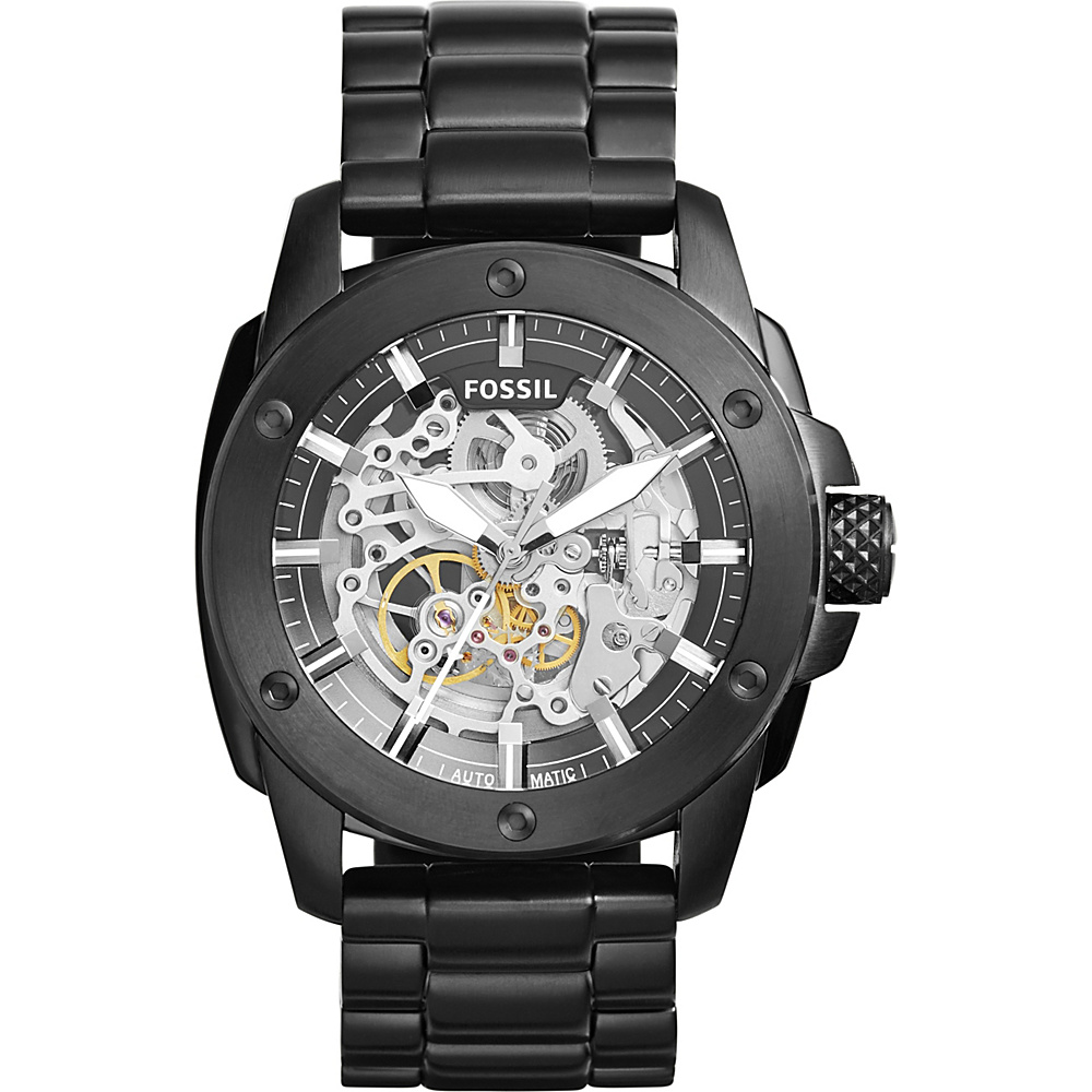 Fossil Modern Machine Automatic Stainless Steel Watch Black - Fossil Watches - Fashion Accessories, Watches