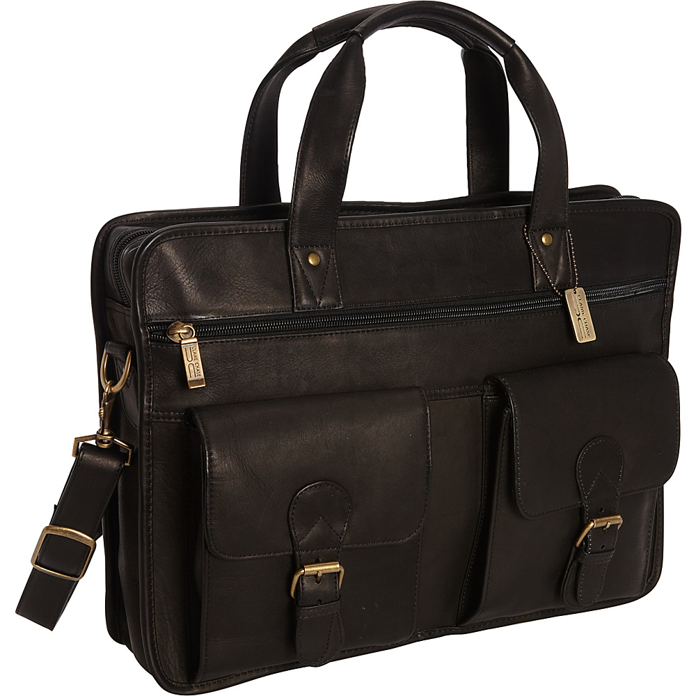 ClaireChase Metropolitan Computer Briefcase Black - ClaireChase Non-Wheeled Business Cases