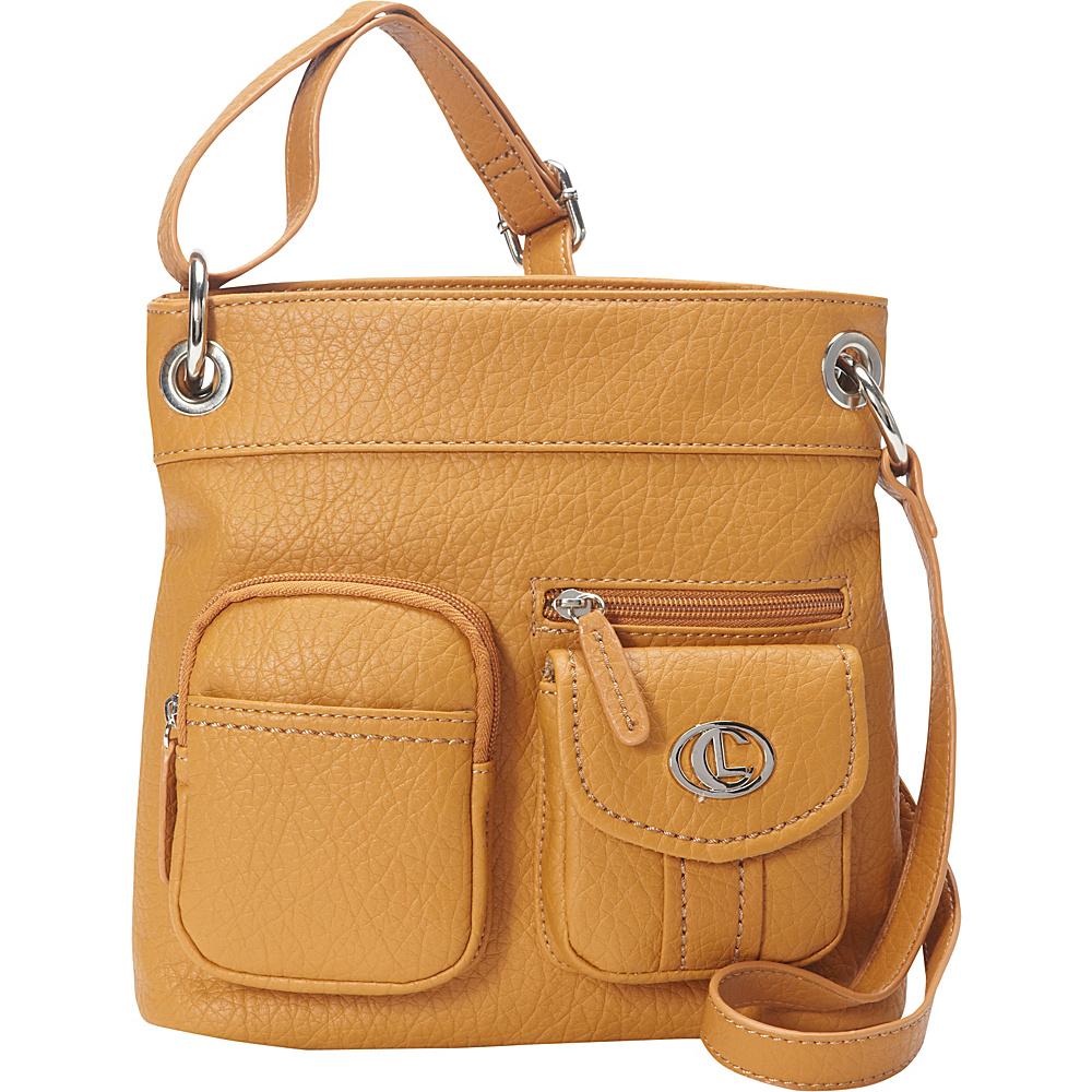 Aurielle Carryland Bernina Cross Body Tan Aurielle Carryland Manmade Handbags