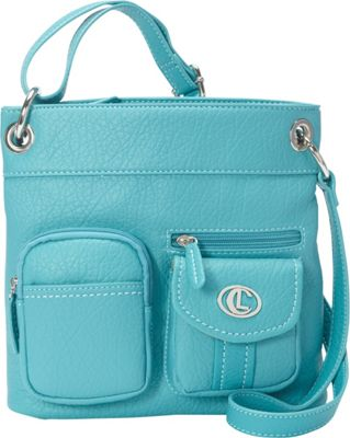 Image of Aurielle-Carryland Bernina Cross Body Teal - Aurielle-Carryland Manmade Handbags