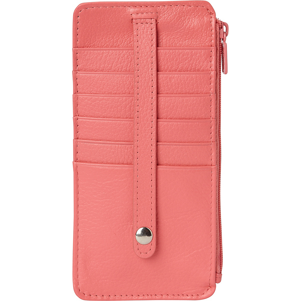 Buxton Hudson Pik-Me-Up Thin Card Holder - Exclusive Colors Sugar Coral - Buxton Womens Wallets - Women's SLG, Women's Wallets