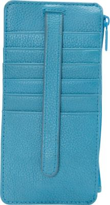 Buxton Hudson Pik-Me-Up Thin Card Holder - Exclusive Colors Blue Jewel - Exclusive Color - Buxton Ladies Small Wallets