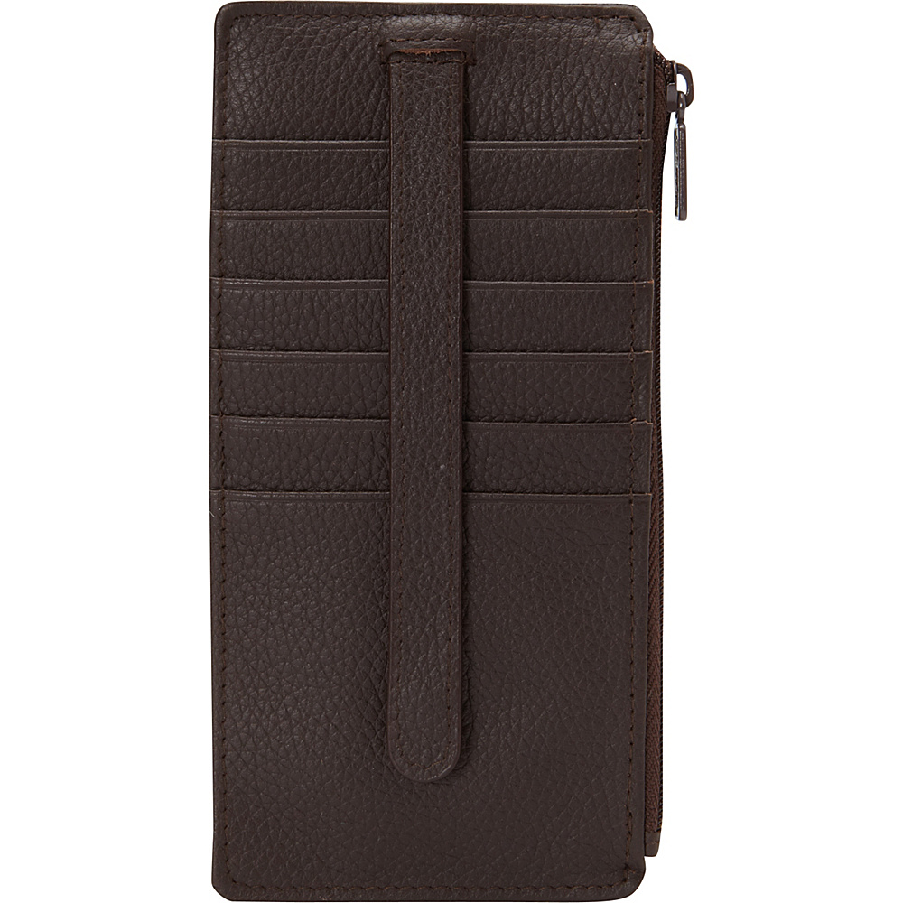 Buxton Hudson Pik-Me-Up Thin Card Holder - Exclusive Colors Chocolate Brown - Buxton Womens Wallets - Women's SLG, Women's Wallets