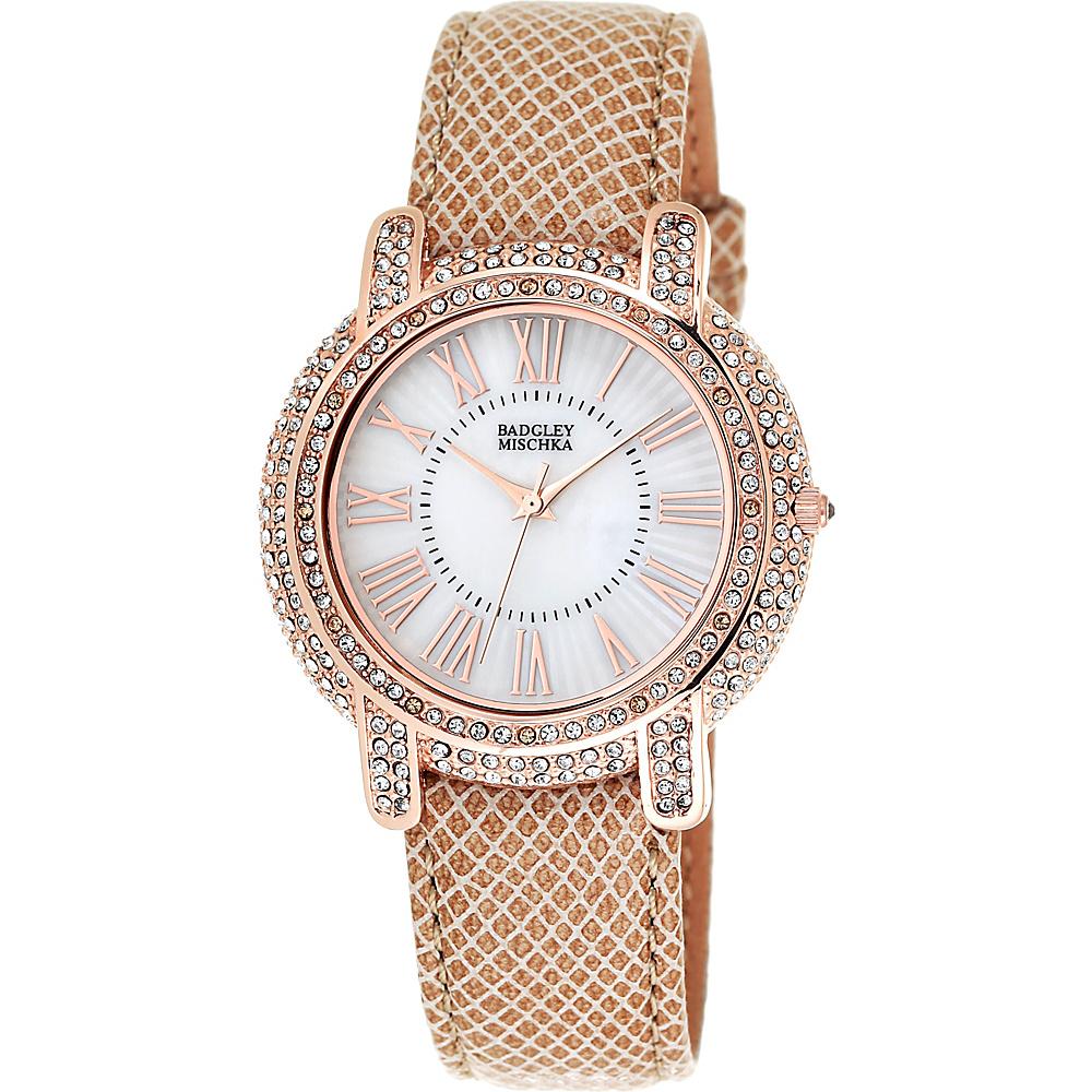 Badgley Mischka Watches Round Crystal Watch Khaki - Badgley Mischka Watches Watches