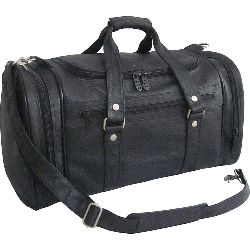 AmeriLeather 22 Jumbo Duffel Black - AmeriLeather Travel Duffels - Duffels, Travel Duffels