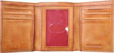 Rawlings Baseball Stitch Tri-Fold Wallet Tan - Rawlings Men's Wallets