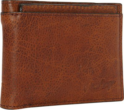 Rawlings Rugged Bi-Fold Wallet with Coin Pocket Cognac - Rawlings Men's Wallets