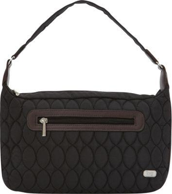 Lug Trotter Shoulder Bag Midnight Black - Lug Fabric Handbags