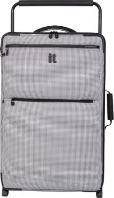 it luggage Worlds Lightest Los Angeles 2 Wheel 29.3 inch Upright Black/White 2 Tone - it luggage Softside Checked