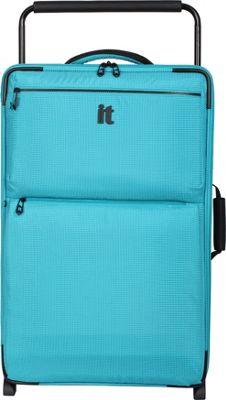 it luggage Worlds Lightest Los Angeles 2 Wheel 29.3 inch Upright Turquoise 2 Tone - it luggage Softside Checked