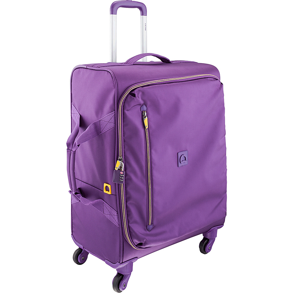Delsey Solution 23 Spinner Trolley Purple Delsey Softside Checked