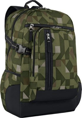 SOLO Warp 15.6 inch Laptop Backpack Green - SOLO Business & Laptop Backpacks