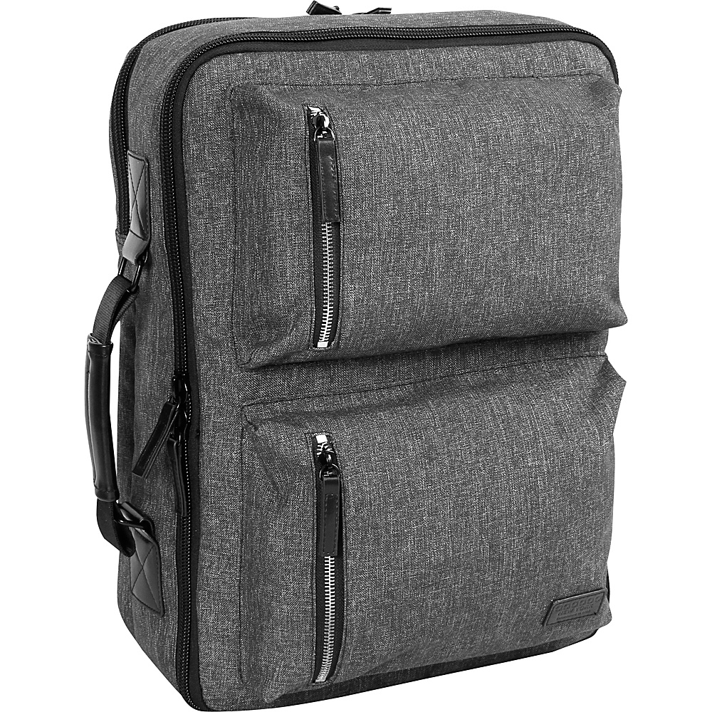 J World New York Station Convertible Laptop  Travel Backpack Black/Grey - J World New York Business & Laptop Backpacks - Backpacks, Business & Laptop Backpacks