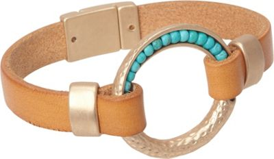 Samoe Tan Leather Bracelet Tan - Samoe Jewelry