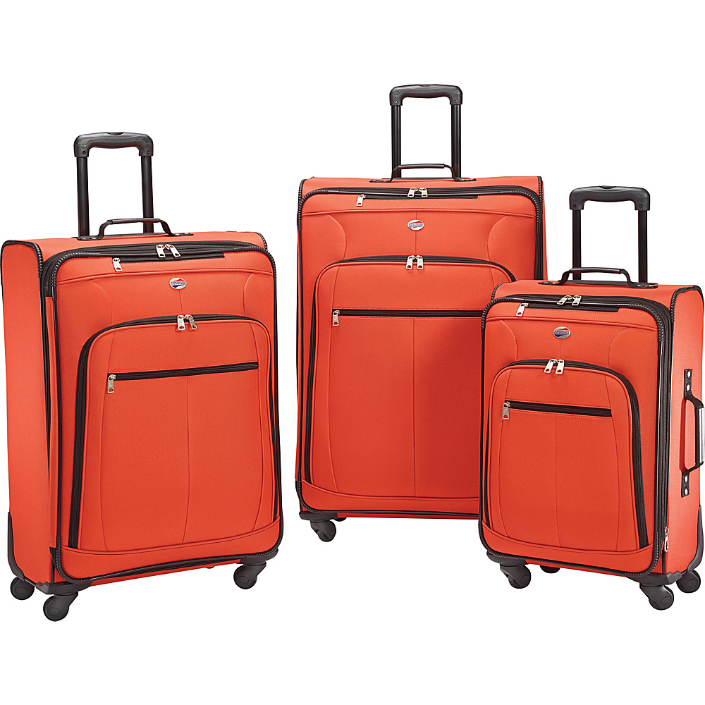 American Tourister Pop Plus 3pc Spinner Set Orange - American Tourister Luggage Sets