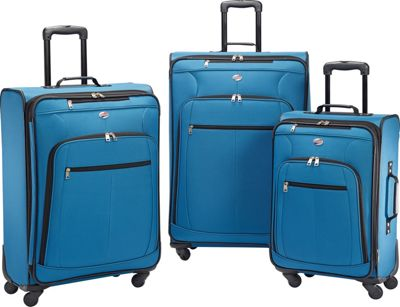American Tourister Pop Plus 3pc Spinner Set Moroccan Blue - American Tourister Luggage Sets