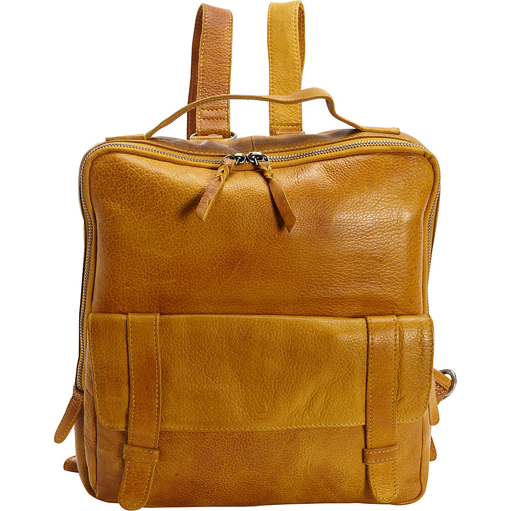 Latico Leathers Hester Backpack Yellow - Latico Leathers Leather Handbags