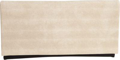 JNB Color Block Clutch Beige - JNB Fabric Handbags
