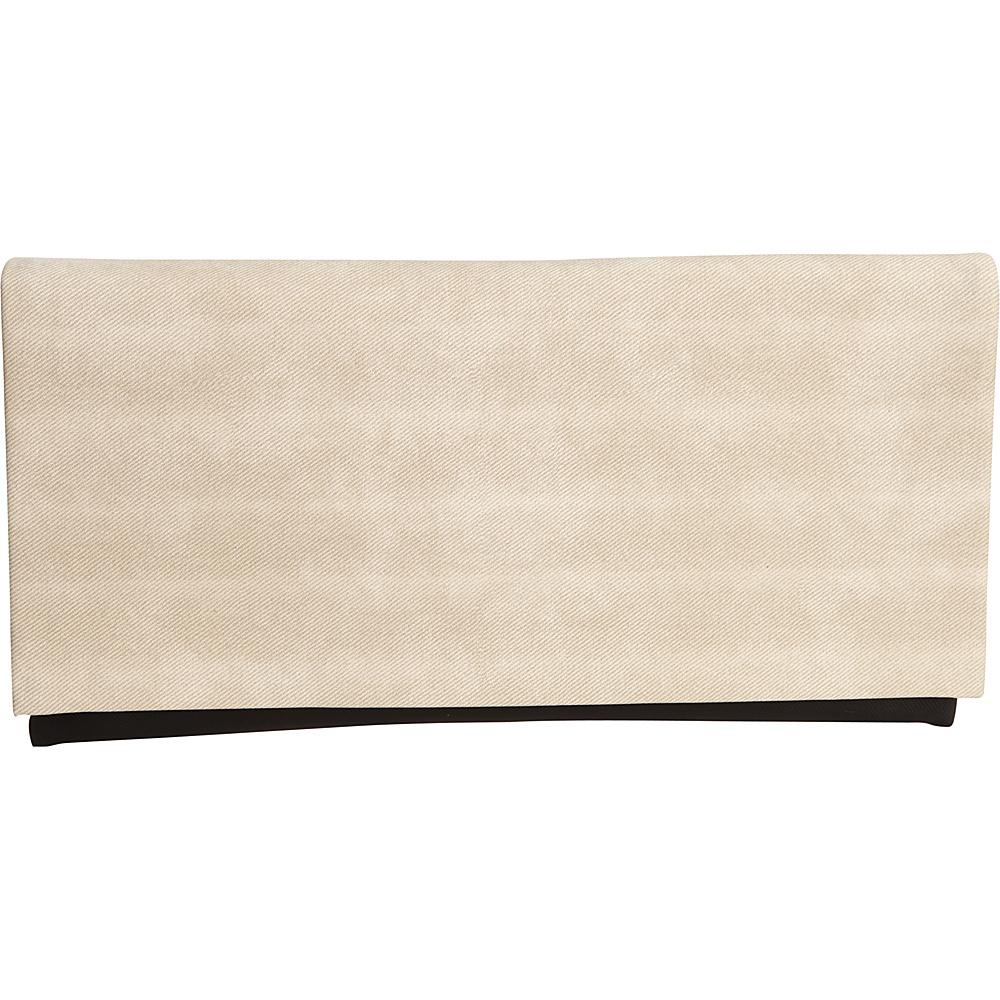 JNB Color Block Clutch Beige JNB Fabric Handbags